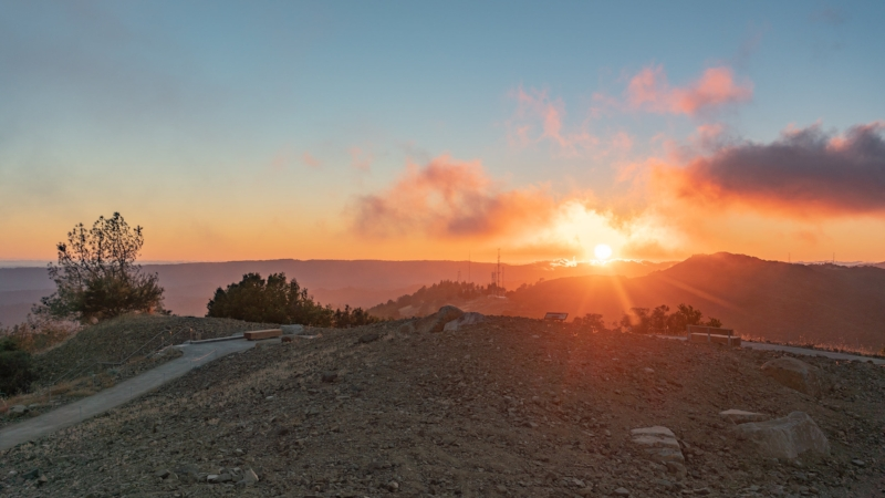 Mount Umunhum sunset