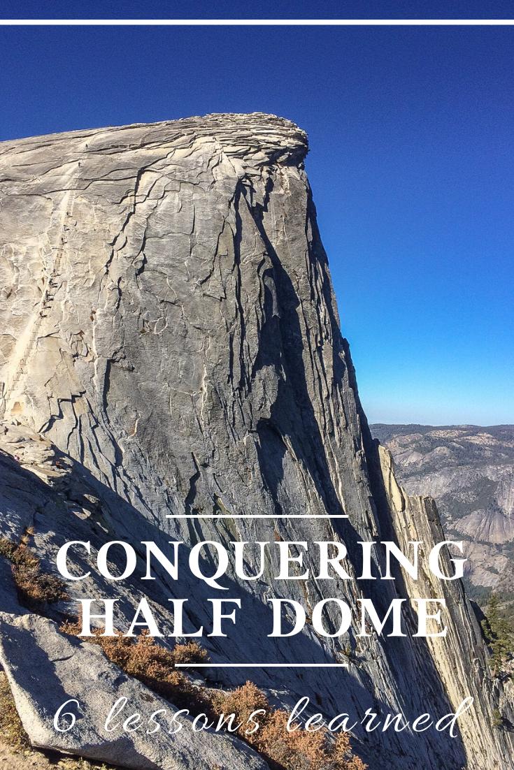 conquering half dome