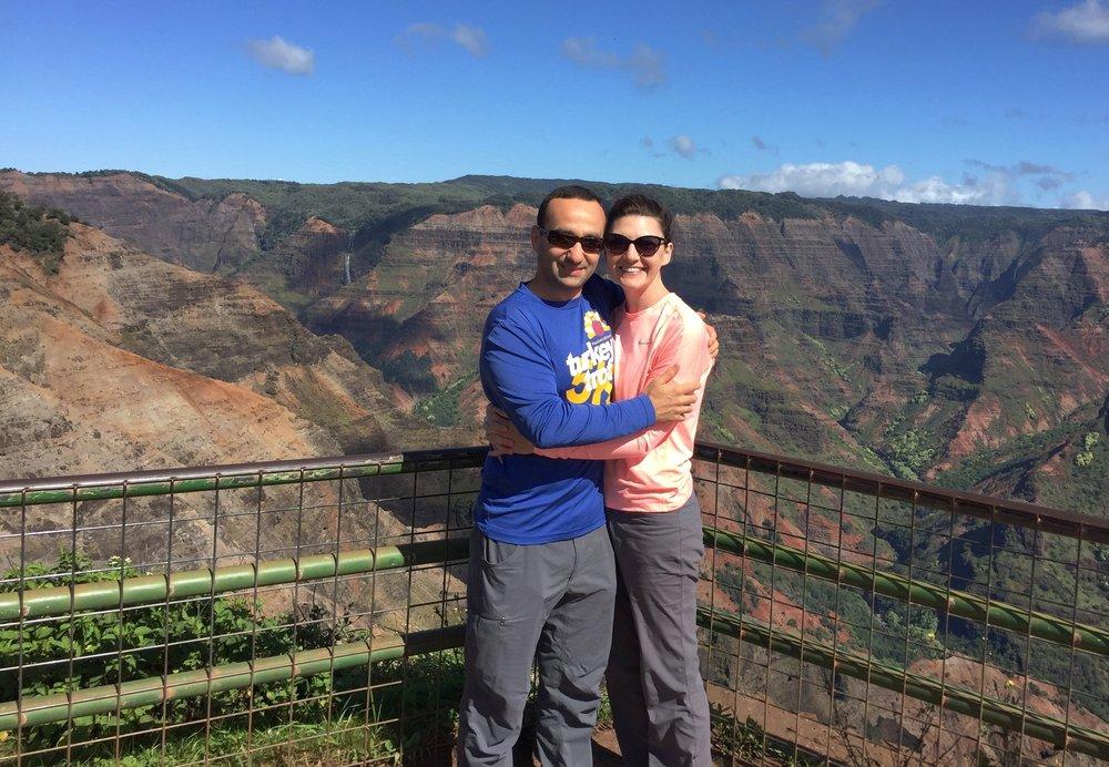Waimea Canyon Lookout with Waipo'o Falls in the distance