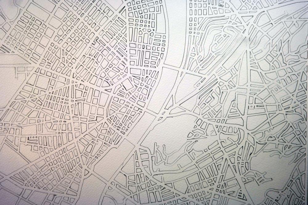 Budapest Drawn Paper Cut