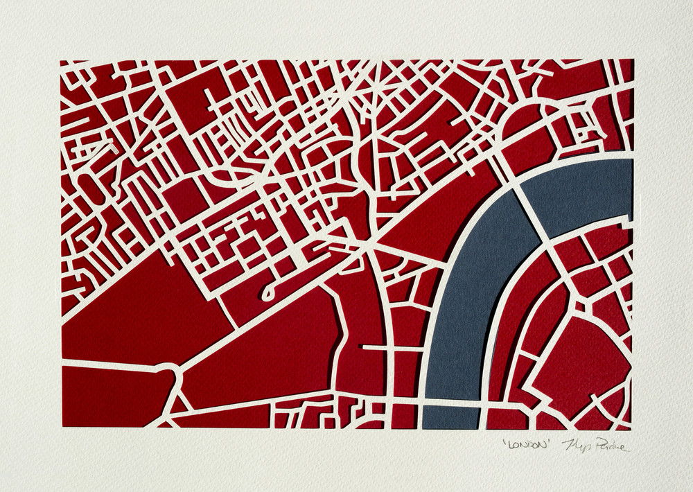 Central London Kartegraphik paper cut.jpg
