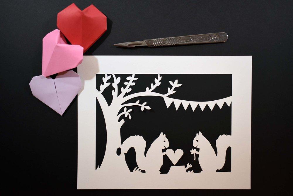 Valentines Paper Cut + Origami Hearts.jpg