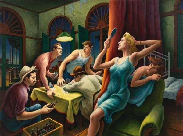 Poker Night (from A Streetcar Named Desire), 1948 By Thomas Hart Benton-ROOMS-Magazine