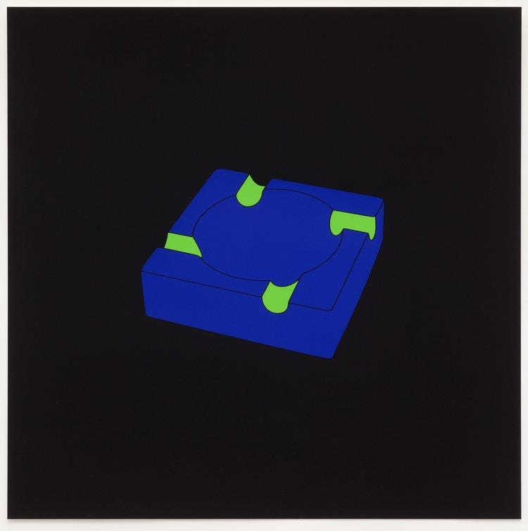 Michael Craig-Martin, Ashtray, 2014, Screenprint in 3 colours plus glaze on Somerset tub sized satin 410gsm paper, Image courtesy Michael Craig-Martin and Alan Cristea Gallery, London