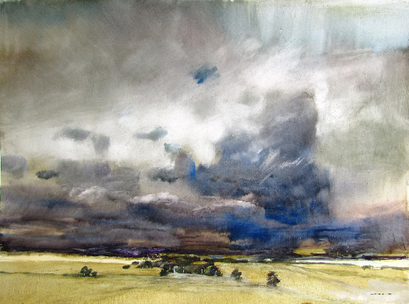 James-Morrison,-'Storm-over-the-Grampians-14.i.2015',-oil-on-board,-75-x101cm.-Courtesy-of-The-Scottish-Gallery