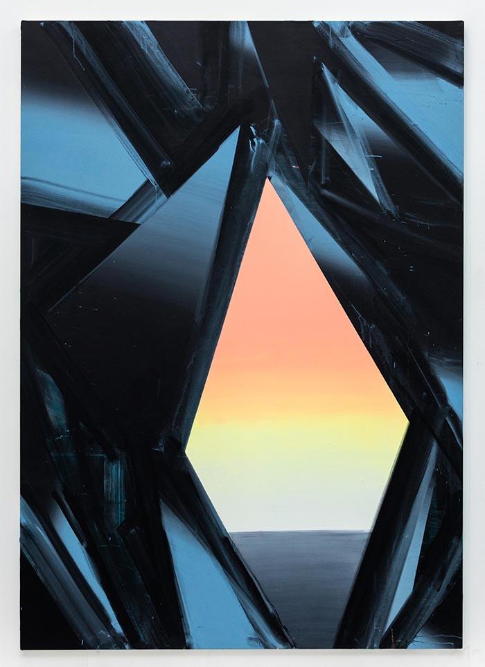 Cave Painting (Ramsey 9), acrylic on canvas, 200 x 140cm, 2014. photo: Joe Plommer