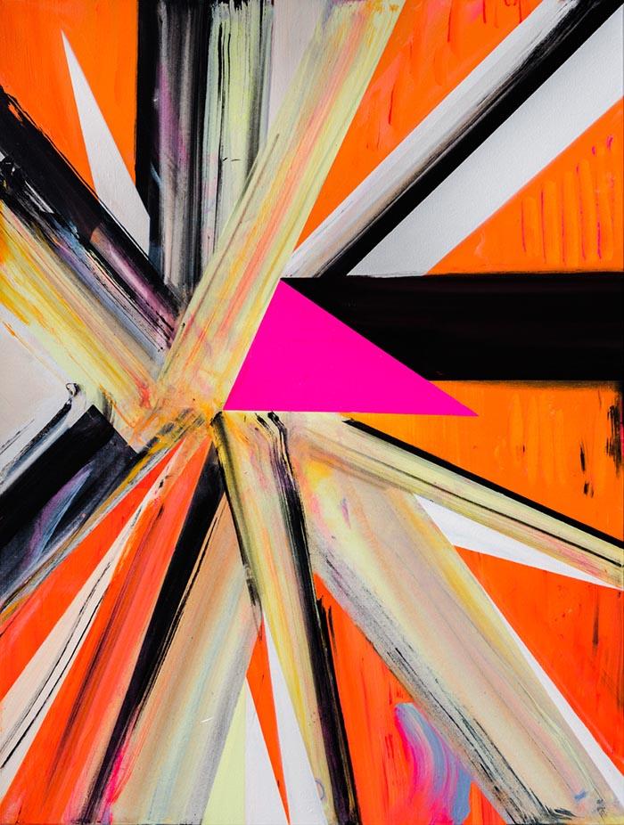 Galácticos (second version), acrylic on canvas, 122 x 92cm, 2013. photo: Joe Plommer