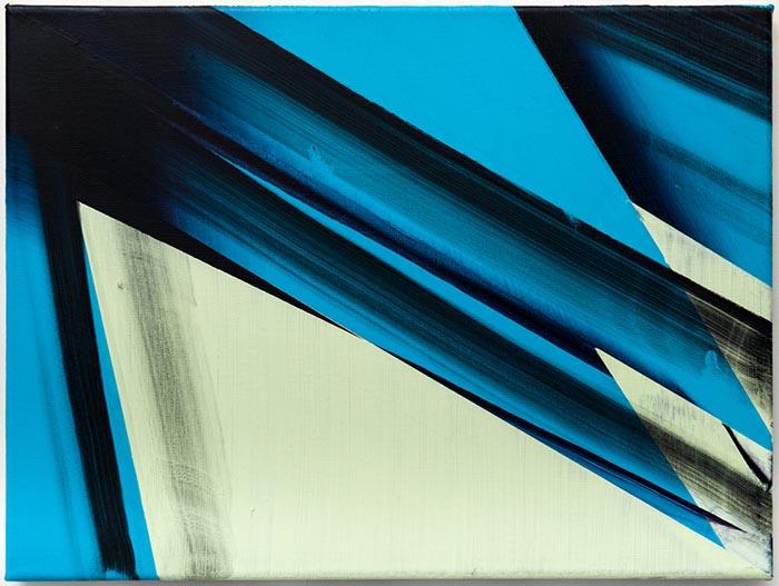Untitled, acrylic on canvas, 29 x 21cm, 2014. photo: Joe Plommer