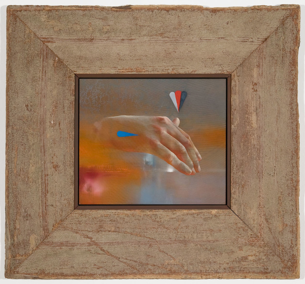 Aaron Holz, Hand for Horace Greeley 1:3 (2013) Oil, resin & acrylic on panel, reclaimed wood 50x53cm.jpg