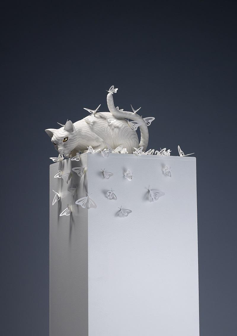 4. The Imperceptible(Cat)_Ceramic, Paper_2015.jpg