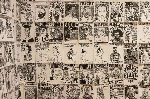 Francisco Vidal, 'Name Dropping for the African Industrial Revolution', 2015, India ink on paper, 20.8x29.8cm each. Image ® Sylvain Deleu