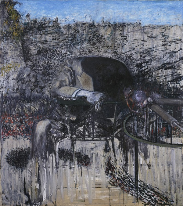 Francis Bacon  Figure in a Landscape  1945.Purchased 1950 © Tate