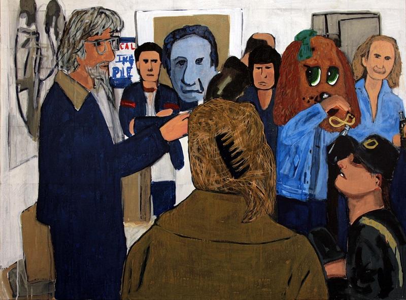 I love Charlieby Jason Gibilaro.Acrylic on canvas, 118cm x 153cm, 200