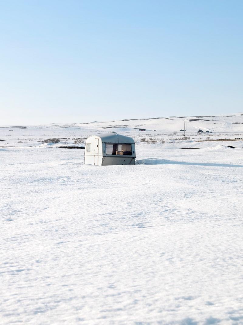 Solitude. Norway, E75 near Vardø, 21.04.2013 - from the NomadsLife series ©Jeroen Toirkens