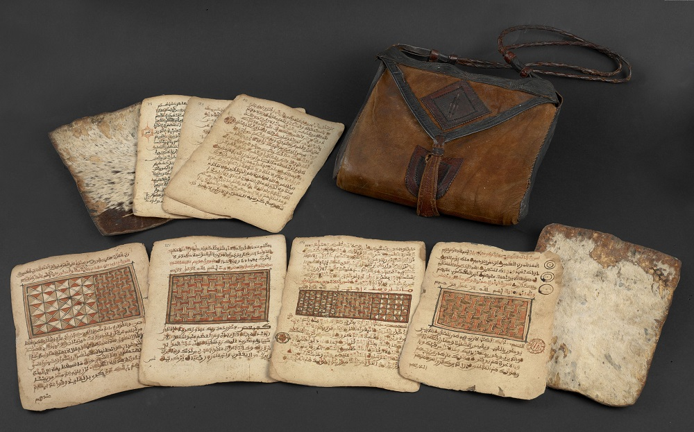 Saddlebag Quran from the late 18th or early 19th century. West Africa Exhibition 2015