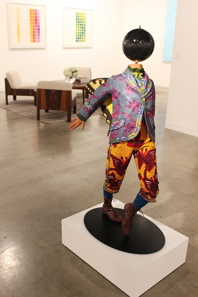 Yinka Shonibare sculpture at Art Basel Miami Beach - photo by Heike Dempster