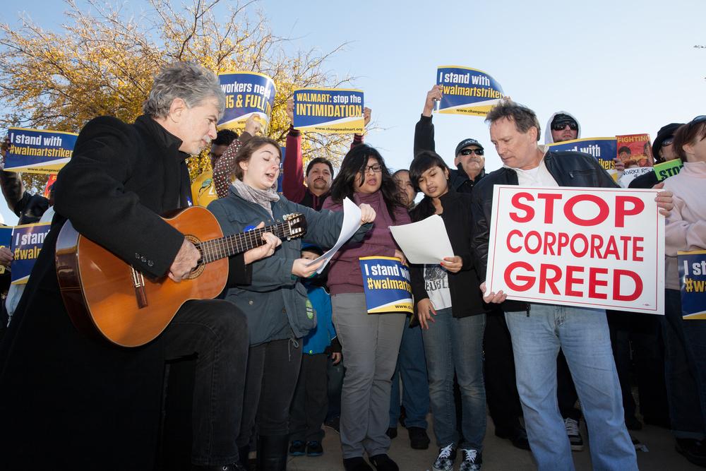 Black Friday Walmart Protest - Grand Prairie, Texas (2014)