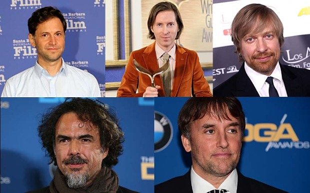 "Alejandro G. Iñárritu, ""Birdman Richard Linklater, ""Boyhood"" Bennett Miller, ""Foxcatcher""Wes Anderson, ""The Grand Budapest Hotel""Morten Tyldum, ""The Imitation Game"""