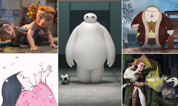 """Big Hero 6"" ""The Boxtrolls""""How To Train Your Dragon 2""""Song of the Sea""""The Tale of the Princess Kaguya"""
