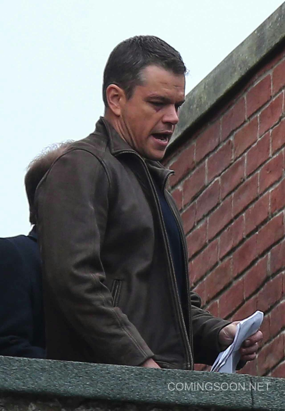 matt damon is back in action with new 39 bourne 5 39 set pics news ecmovieguys. Black Bedroom Furniture Sets. Home Design Ideas