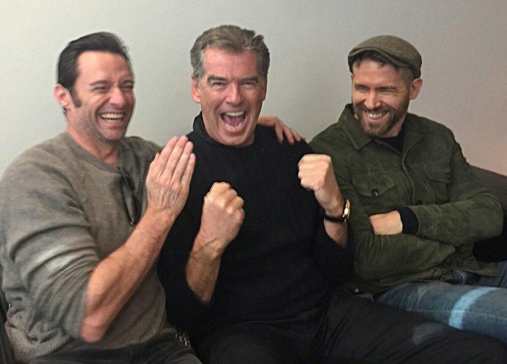 Hugh Jackman & Peirce Brosnan & Ryan Reynolds