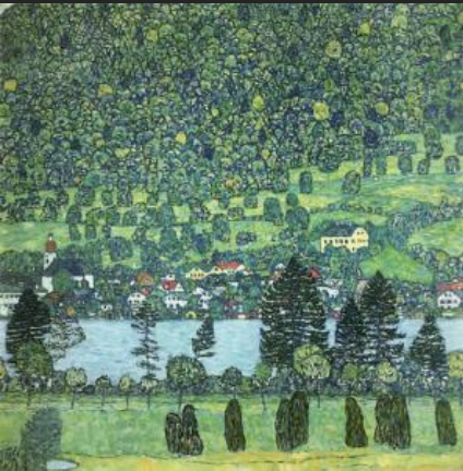 Village on the Attersea - Gustav Klimt