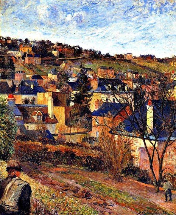 Blue Roofs of Rouen - P. Gauguin