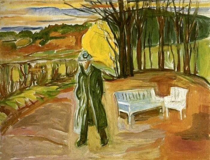 Self-portrait in the Garden at Ekely - Edvard Munch