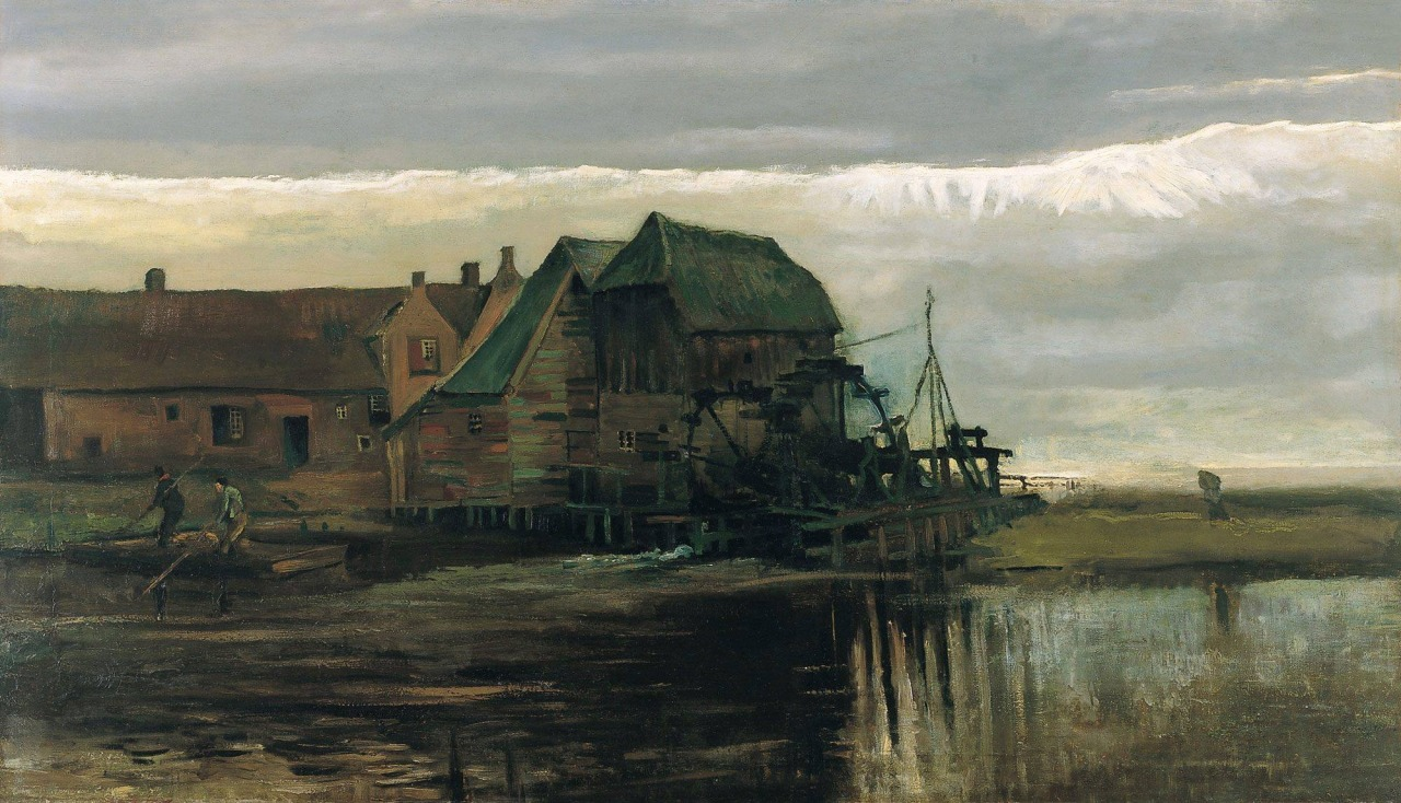 Watermill at Gennep -   Vincent van Gogh   1884