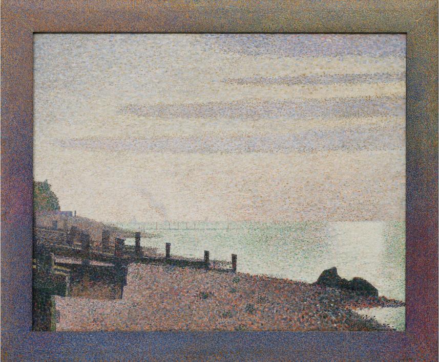 Evening, Honfleur - G. Seurat