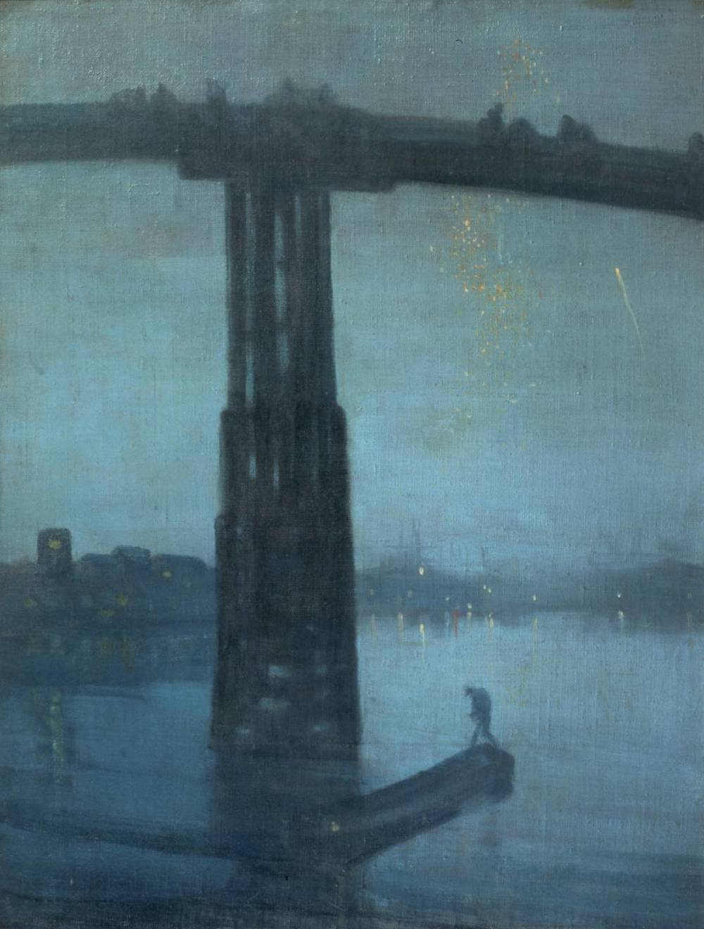 Nocturn en blau i argentat; antic pont de Battersea - James Abbott McNeill Whistler