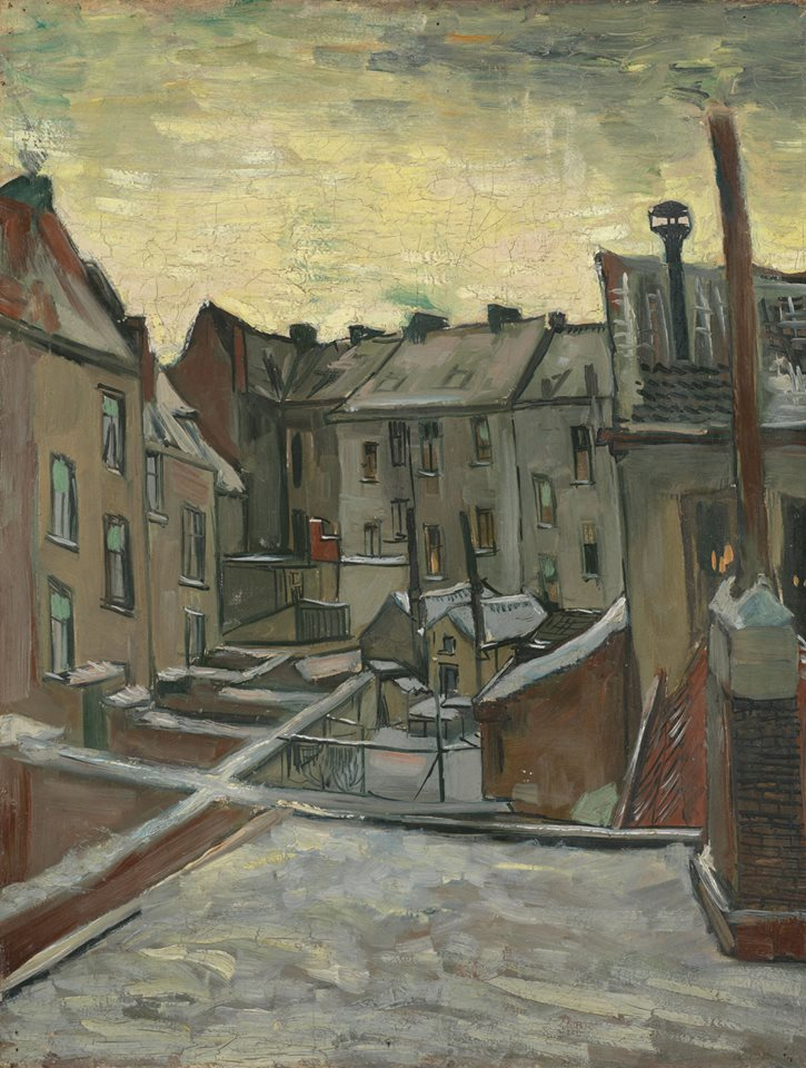 Houses Seen from the Back (1885-86). Vincent van Gogh