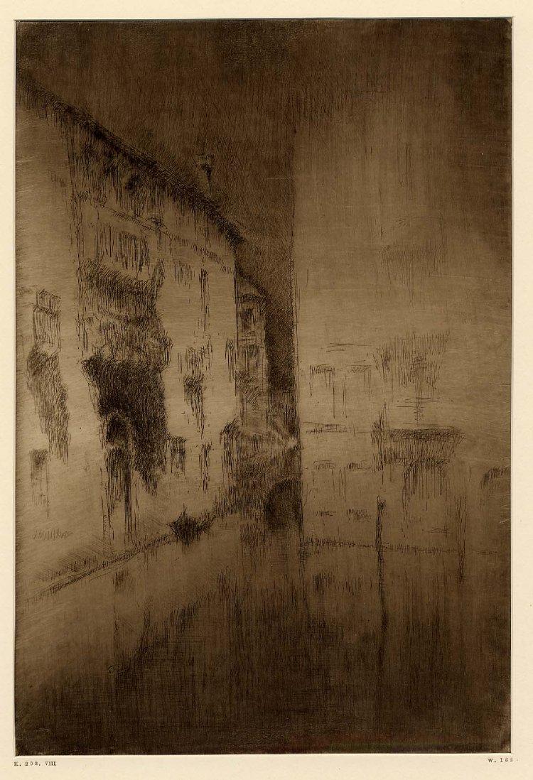 Whistler. Nocturn, 1879. Aiguafort i puntaseca
