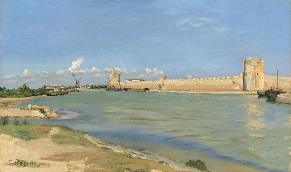 Frédéric-Bazille - Les Remparts d'Aigues-Mortes du côtédu couchant (1867)