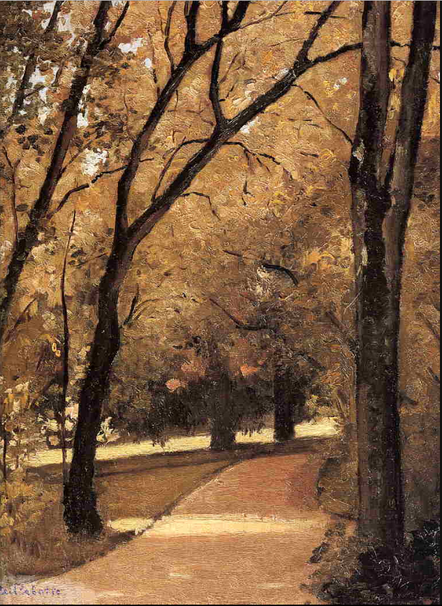 Yerres, Path Through the Old Growth Woods in the Park (1871-1878) - G. Caillebotte