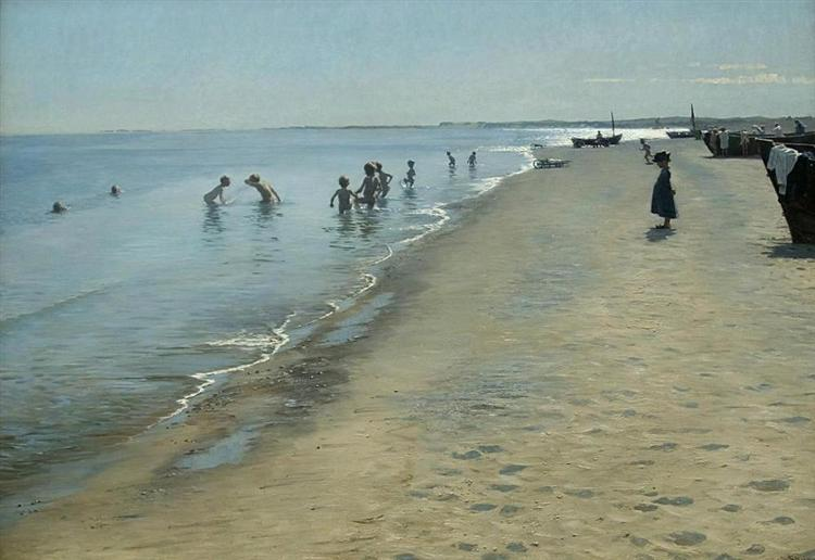 Summer Day On Skagen's Southern Beach - Peder Severin Kroyer