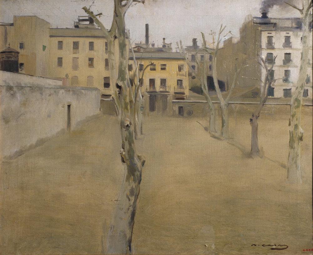 Pati de l'antiga presó de Barcelona - Ramon Casas