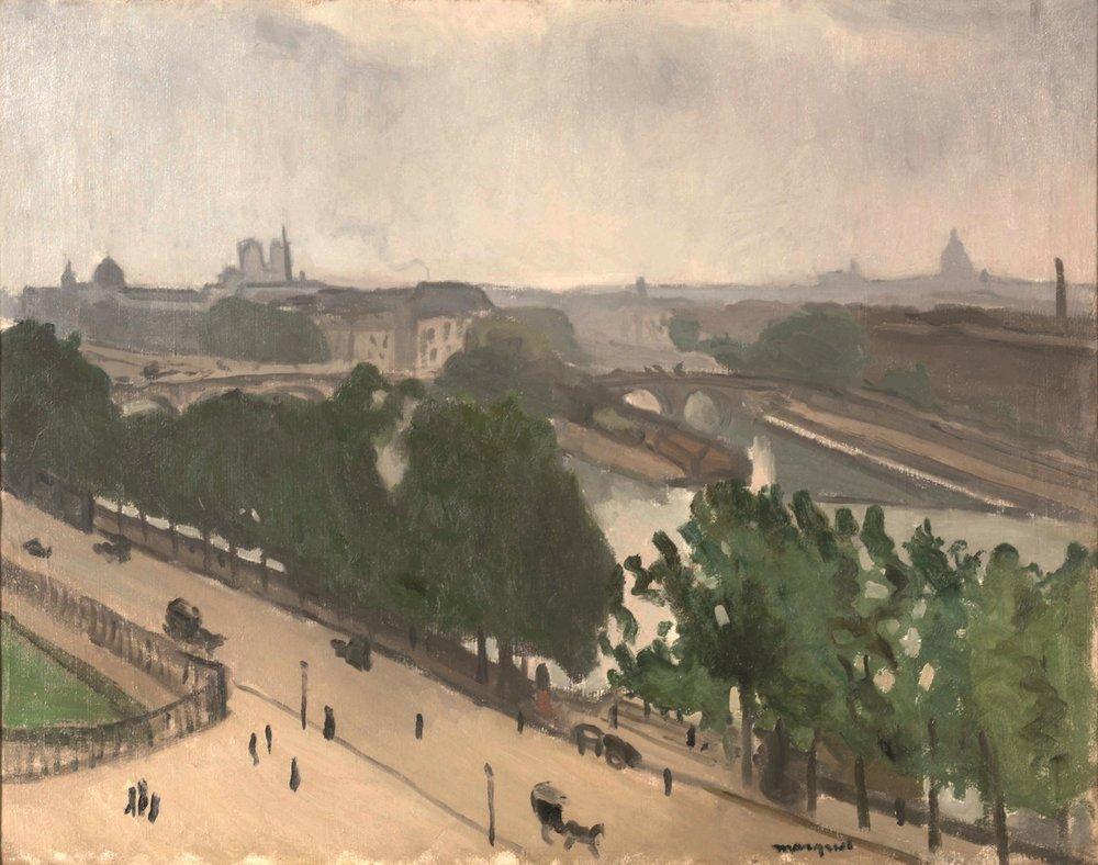 Albert Marquet - Vue de Paris avec Notre-Dame et le Vert-Galant