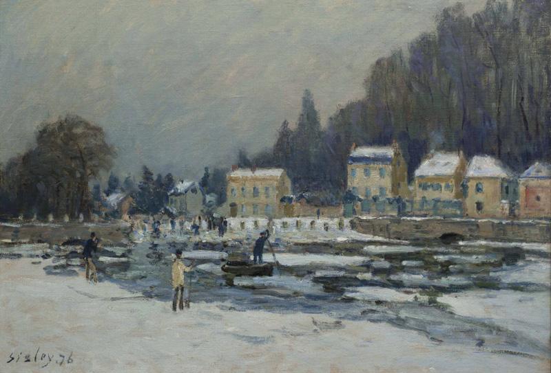 La débacle de la Seine à Port-Marly  - Alfred Sisley (1876)