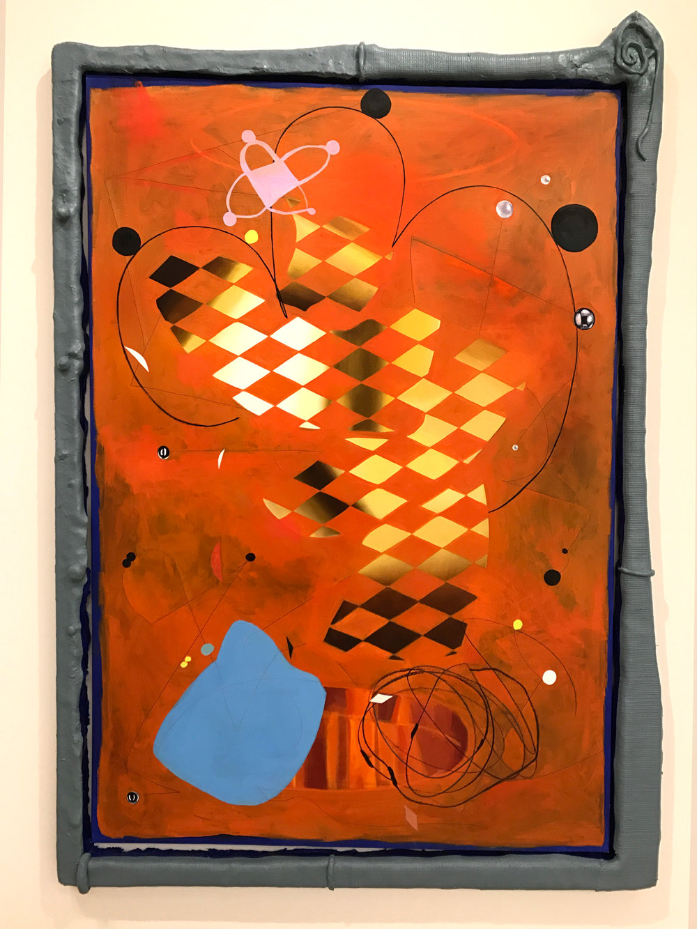 A Lived Thing  oil, acrylic paint, foam, plaster, fiberglass, Apoxie Sculpt, canvas 68 x 43 x 5 in