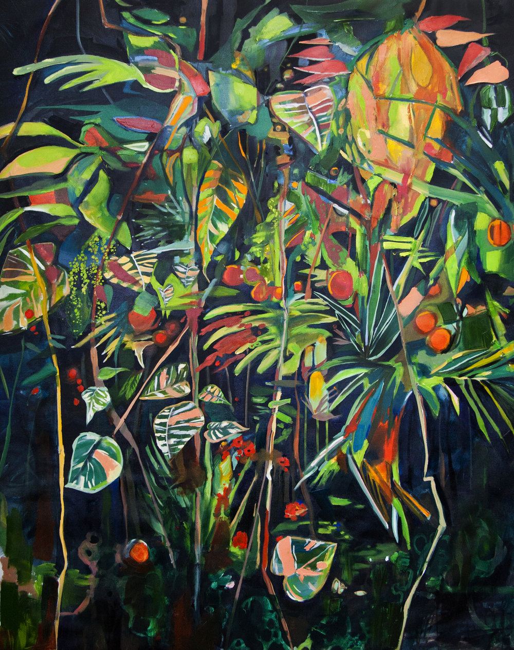 Selva  oil on canvas 69 x 58 in