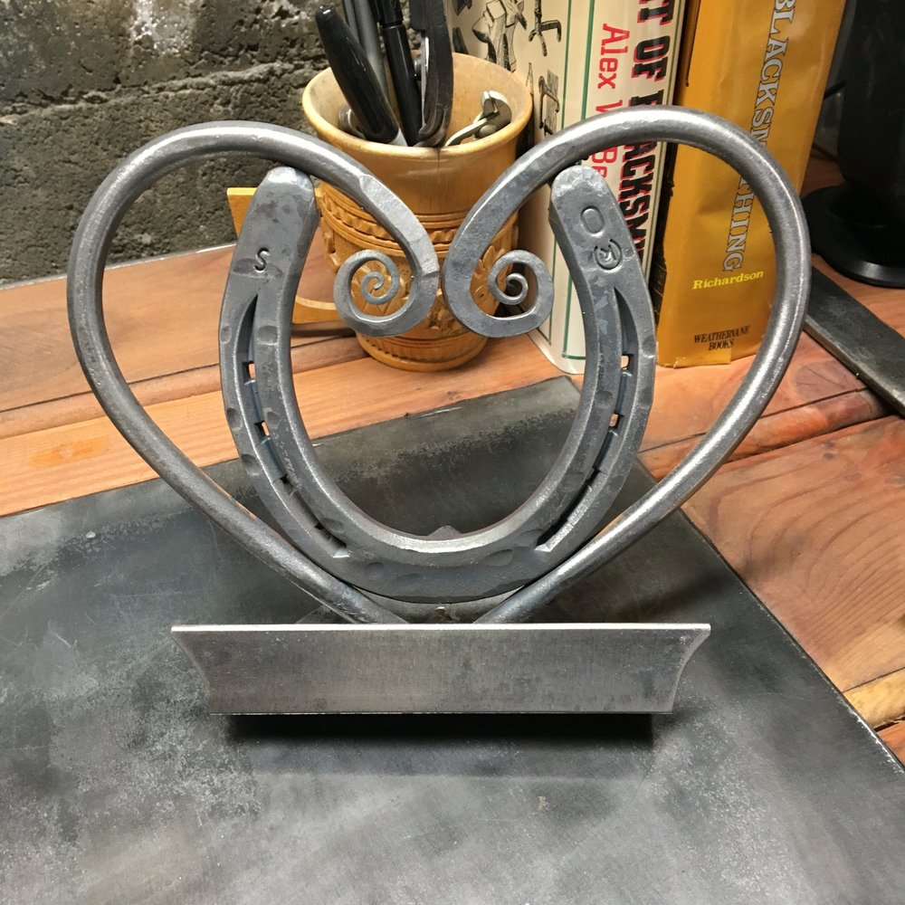 Horseshoe Heart iPad Stand