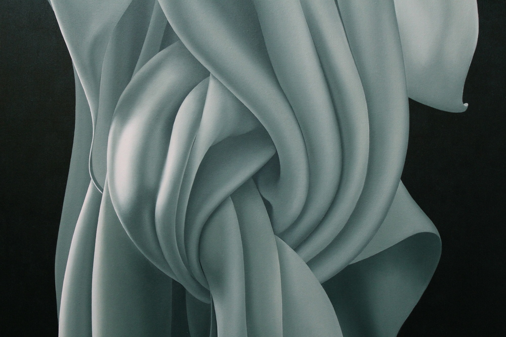"Detail, ""Knot Altogether"" oil on canvas 36"" x 48"" (Private Collection)"