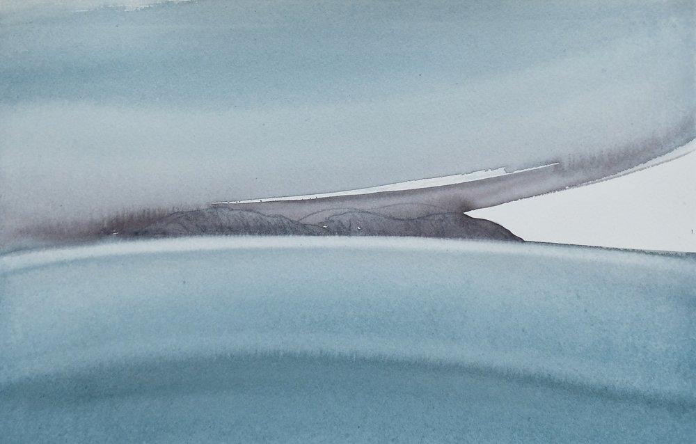 na h-Eileanan Seunta study 10 watercolour on TH Saunders Waterford 25 x 38 cm
