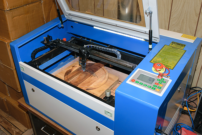 We've got three laser machines to handle all types and sizes of jobs.