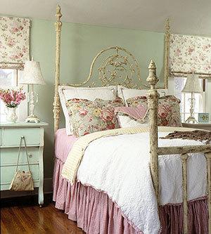 shabby chic bedroom — toronto designers