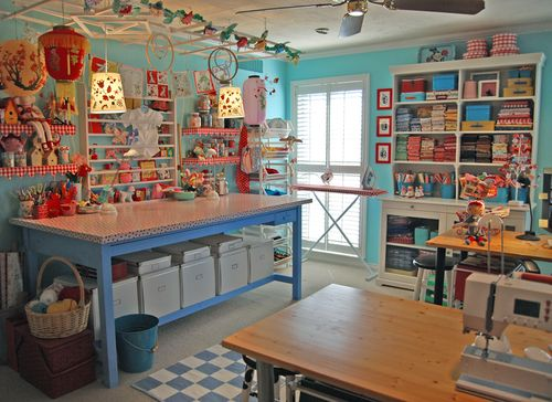 colourful craft room - 6a00d8341c574653ef0133ef9df009970b-500wi