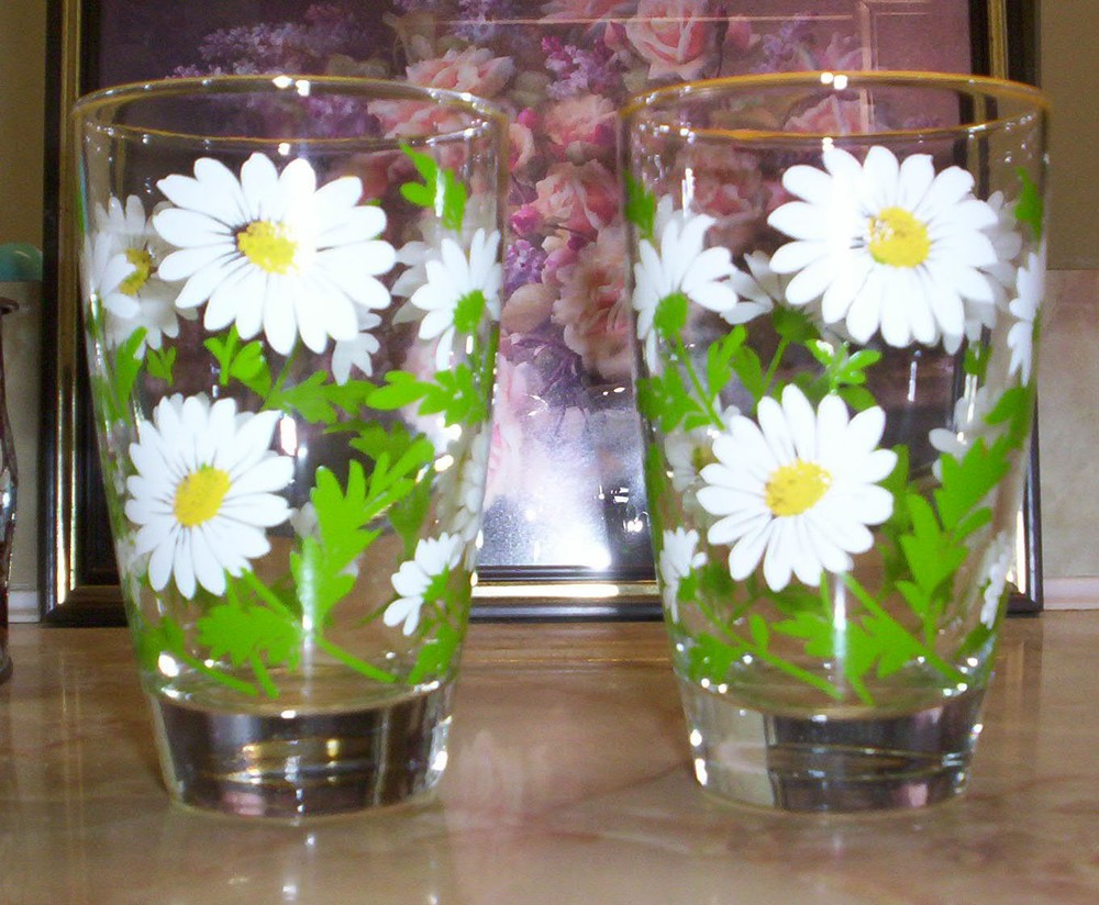 daisy drinking glasses - il_fullxfull.169327669