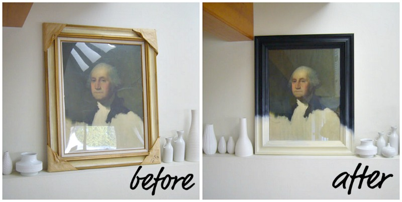 gold frame to black frame - Dans le Townhouse_Frame Before and After