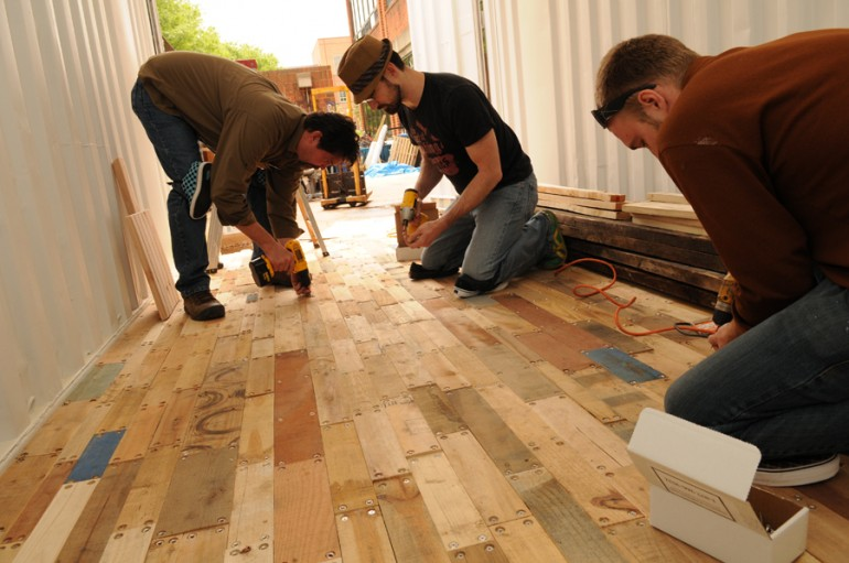 flooring from pallet wood